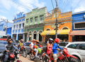 Brazil, Manaus: Busy Shopping Street With Old Houses Stock Photo - 58588240