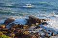 Rocky Shoreline Below Heisler Park, Laguna Beach, CA Royalty Free Stock Photo - 58590935