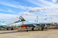 New Russian Strike Fighter Sukhoi Su-35 Royalty Free Stock Images - 58619019