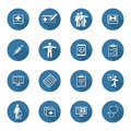 Medical And Health Care Icons Set. Flat Design. Long Shadow. Royalty Free Stock Photo - 58621375