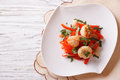 Grilled Scallops With Peppers And Herbs. Horizontal Top View Royalty Free Stock Photo - 58642745