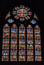 Stained Glass Window In Church Saint Walburga Stock Images - 58644374