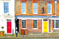 Notting Hill  Area  In London  Old Suburban   Wall Door Royalty Free Stock Image - 58646576
