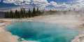 Black Pool At West Thumb Geyser Basin Stock Images - 58648254