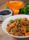 Mexican Vegan Vegetable Pilaf With Haricot Beans And Pumpkin Stock Photo - 58654570