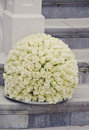 White Roses Centerpiece Flower Ball Royalty Free Stock Photos - 58674678