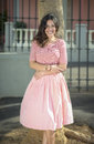 Lady In Pink Stock Image - 58678391