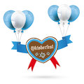 Oktoberfest Gingerbread Heart Red Balloons Royalty Free Stock Images - 58686569