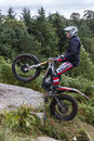 Motorcycle Trials Rider. Royalty Free Stock Images - 58689859