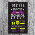 Back To School Party Invitation. Stock Image - 58692431