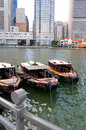 Boats By Singapore River Stock Image - 5871601