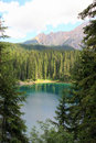 Lake, Pines Wood & Mountain Royalty Free Stock Photography - 5874577