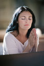 Woman Praying Royalty Free Stock Photos - 58708188