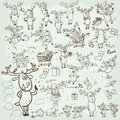 Collection Of Christmas Reindeer  Royalty Free Stock Images - 58709389