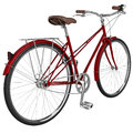 Classic Bike With Luggage. 3D Graphic Stock Image - 58713211