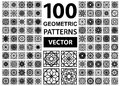 Vector Set Of Geometric Patterns Royalty Free Stock Images - 58716699
