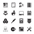 Silhouette Server Side Computer Icons Stock Photography - 58716872