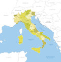 Highly Detailed Map Of Italy, Vector. Royalty Free Stock Photo - 58717005