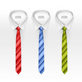 Set Of Tied Striped Colored Silk And Bow Ties Vector Stock Images - 58721844