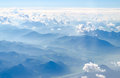 Alps Mountains Top View From A Plain Stock Photography - 58737942