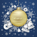 Christmas Background With Snowflakes And Bells Stock Images - 58754894