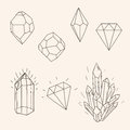 Hand Drawn Set Sketch Crystal,diamond And Polygonal Figure Tatto Royalty Free Stock Photos - 58756148