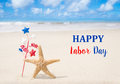 Labor Day USA Background With Starfishes Stock Images - 58759734