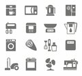 Icons, Appliances, Monotone, Home Appliances, White Background. Royalty Free Stock Photo - 58763765