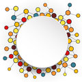 Abstract Molecules And 3d Paper Circles With Blank Space For Your Content Royalty Free Stock Image - 58776436