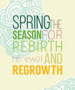 Spring Poster For Recovery Of Strength And Energy Stock Photo - 58781080
