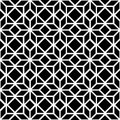 Black And White Simple Star Shape Geometric Seamless Pattern, Vector Royalty Free Stock Photos - 58784728