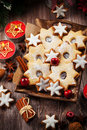 Homemade Cookies For Christmas Royalty Free Stock Photography - 58805087