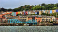 Terraced Housing District In Bristol City Harbor In England Stock Image - 58814571
