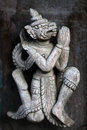 Ancient Carved Wooden Figure At Shwe Nan Daw Kyaung, Myanmar Stock Images - 58818074