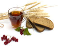 Tea, Cereals, Currant And Bread Royalty Free Stock Image - 58822406