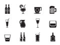 Silhouette Different Kind Of Drink Icons Stock Images - 58834654