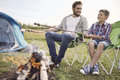 Camping With My Son Stock Photography - 58845072