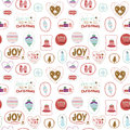 Christmas And New Year Greeting Pattern. Stock Photo - 58846970