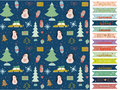 Christmas And New Year Greeting Pattern. Royalty Free Stock Image - 58846996