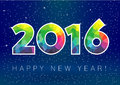 2016 New Year Snow Card Royalty Free Stock Images - 58857979