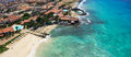 Aerial View Of Santa Maria Beach In Sal Island Cape Verde - Cabo Royalty Free Stock Photography - 58864007