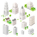 Set Of The Isometric Vector Elements. Royalty Free Stock Image - 58864316
