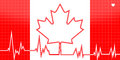 EKG Heart Monitor With Canada Theme Royalty Free Stock Image - 58873866