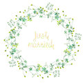Wreath (frame) Of Wildflowers Stock Photography - 58894302