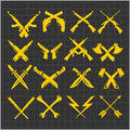 Crossed Weapons Vector Collection In Dark Stock Photos - 58895813