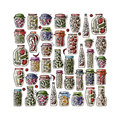 Set Of Pickle Jars With Fruits And Vegetables Royalty Free Stock Images - 58896719