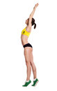 Beautiful Woman Dressed For Fitness Doing Stretching Exercises Royalty Free Stock Image - 58915916