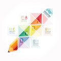 Abstract Infographic Design Minimal Style Pencil  Template / Can Royalty Free Stock Photo - 58925085