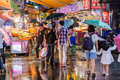 Shoppers Walking Around  Bali Left Bank Park Traditional Market Royalty Free Stock Images - 58925669