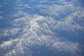 Aerial View Of Japanese Alps Mountain Range Royalty Free Stock Photography - 58930057